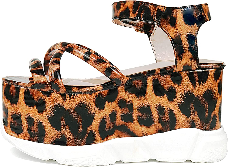 CYNLLIO Platform Wedges Sandals for Ranking TOP17 Soldering Colorful Women Toe Open Adju