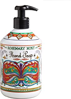 World Market Deruta Rosemary Mint Hand Soap - Perfect Kitchen Decor Antibacterial Soap - Organic Liquid Handsoap with Italian Soap Dispenser - Hand Sanitizer to Everyone - Bathroom or Kitchen 17 Ounce