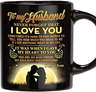 Fathers Day Gift for Man, 11 Oz Funny Mug Gifts for Husband from Wife, Perfect Husband Gift from Wife Romantic Love Wedding, Anniversary Gift, Best Couples, Christmas, Birthday, Father's Day