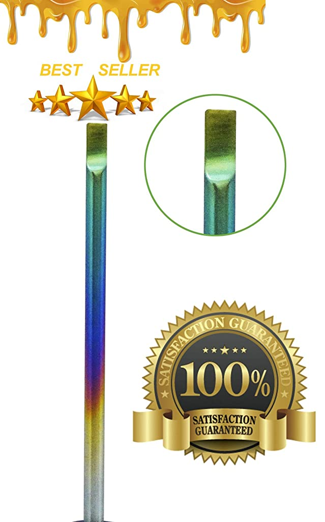 Natural Mystic Wax Carving Titanium Tool Kit - Phenomenal Multi Colored & Precise Multi Purpose Edges GR3 Flat Hooked End Type Tool Piece Wax Carvers Jewelry Wax Carvers USA Brand