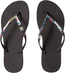 defd75de95d0 Havaianas Kids. Slim Tropical Floral Flip-Flop (Toddler Little Kid Big  Kid).  20.00. Black