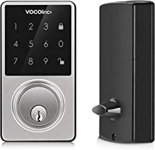 VOCOlinc Smart Door Lock Bluetooth Electronic Keyless Entry Deadbolt with Keypad LED Touch Screen ONLY Works with Apple HomeKit Remote Control via Apple TV/HomPod/iPad T-Guard in Satin Nickel