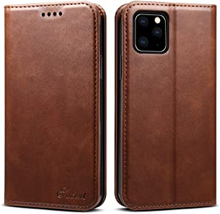Protect Your Phone, Calf Texture Horizontal Flip Leather Case with Holder & Card Slots & Wallet for iPhone XI Max (2019) for Cellphone. (Color : Brown)