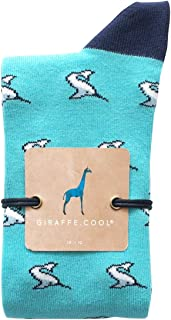 Giraffe Cool Calcetín para Mujer de Color Azules tiburoncín