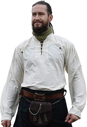 Battle-Merchant - Camisa Medieval para Hombre - Ideal para Larp Vikingo