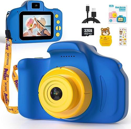 Peradix Appareil Photo Enfants - Mini Caméra Numérique Rechargeable Caméscope avec Dragonne,Photo/Vidéo de 1080P HD 1...