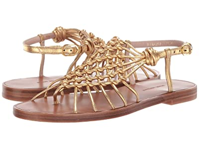 Stuart Weitzman Seaside (Gold Metallic Nappa) Women