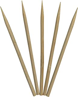 Retail Pack Blunt Point for Safety 100 Count Sticks KingSeal Natural Bamboo Wood Candy Apple Skewers 5.5 Inch x 6.5mm Diameter 2 Packs of 50