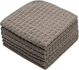Mia'sDream Microfiber Kitchen Dish Cloth Rags Waffle Weave Cleaning Cloth Ultra Soft Absorbent Quick Drying Dish Towels Wa...