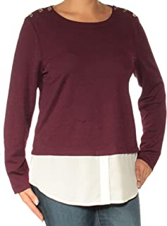 Womens Layered-Look Knit Blouse