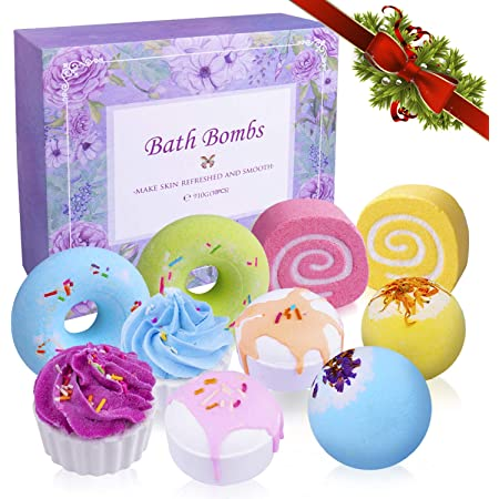 Bath Bombs Set, INPHER 10 Larger 3.8Oz Organic Natural Handmade Bubble Floating Fizzies Spa Kit Multicolored Gifts for Her Women Birthday Festivel Valentines Mothers Day Anniversary Christmas