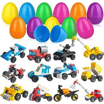 Goodie Bag Fillers and Kids Prizes Dinosaur Party Favors Party Supplies,Dinosaur Eggs 25 PCs Building Block Dinosaur Toys Prefilled Suprise Eggs