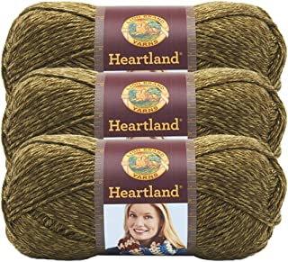 (3 Pack) Lion Brand Yarn 136-174K Heartland Yarn, Joshua Tree