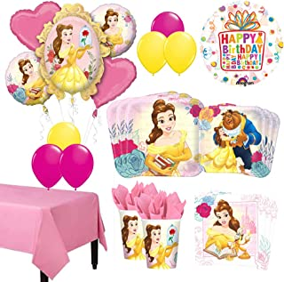 The Ultimate 8 Guest 53pc Beauty and The Beast Birthday Party Supplies and Balloon Decoration Kit