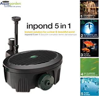 Aquagarden Water Pump for Ponds | Submersible Water Pump | Fountain Pump 5 in 1 Solution for Clear Beautiful Ponds