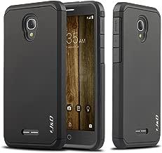 Alcatel Fierce 4 Case, J&D [ArmorBox] [Dual Layer] Hybrid Shock Proof Protective Rugged Case for Alcatel Fierce 4 - Black