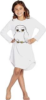 Hedwig Owl Harry Potter Nightgown Girls Pajamas Plush Fleece Hogwarts Sleep Gown