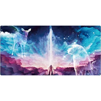 Gaming Large Mouse Pad, iKammo Extended Galaxy Desk Pad Office Keyboard Mousepad Mat Non-Slip Rubber Base with Stitched Edges (XXL-050, XXL)
