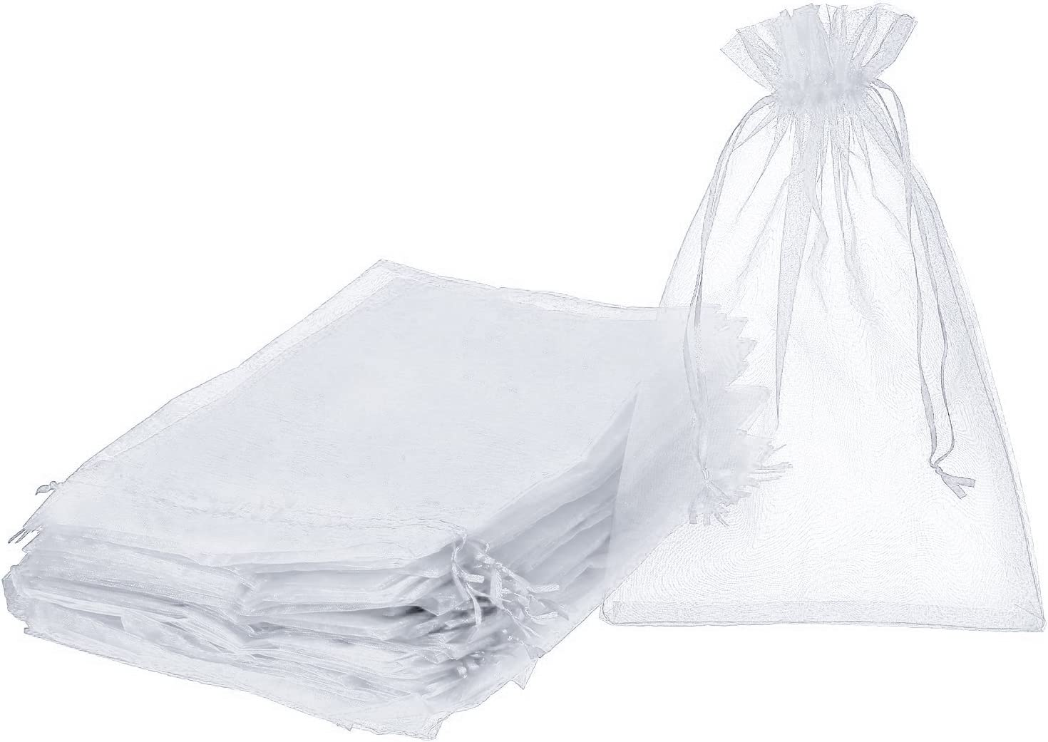 Pack of 50 Organza Fixed price for sale Gift Bags Baltimore Mall fo Pouches Candy Drawstring Jewelry