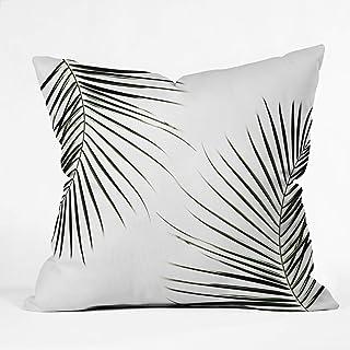 "Deny Designs Mareike Boehmer Palm Leaves 9 Throw Pillow, 16"" x 16"""