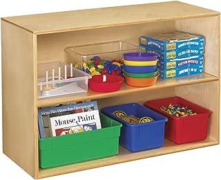 Childcraft 1335360 Storage Unit, Birch Veneer Panel, 4-Coat UV Acrylic, 2-Shelves, 35-3/4
