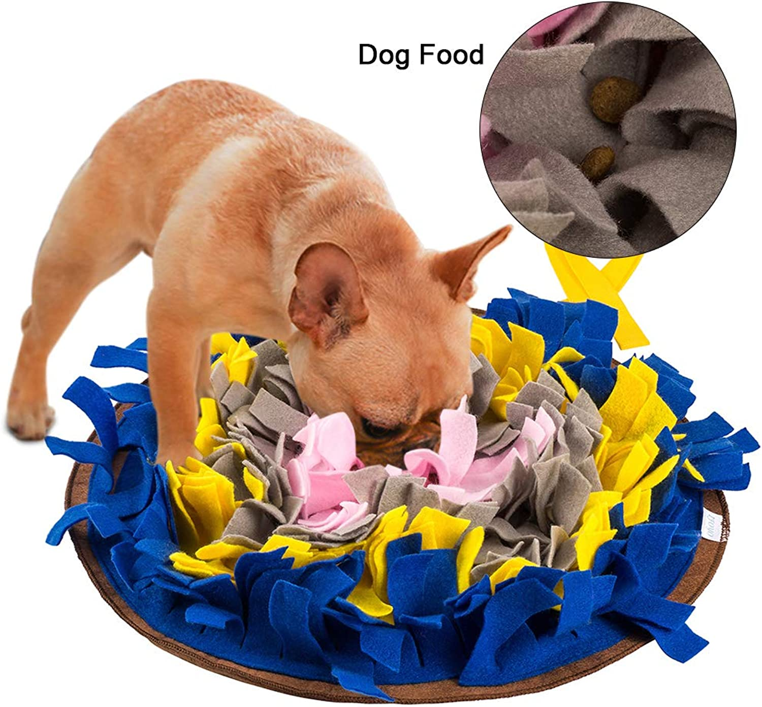 Green House Dog Snuffle Mat Pet Puzzle Toy Sniffing Training Pad Activity Blanket Feeding Mat for Dog Release Stress (bluee)