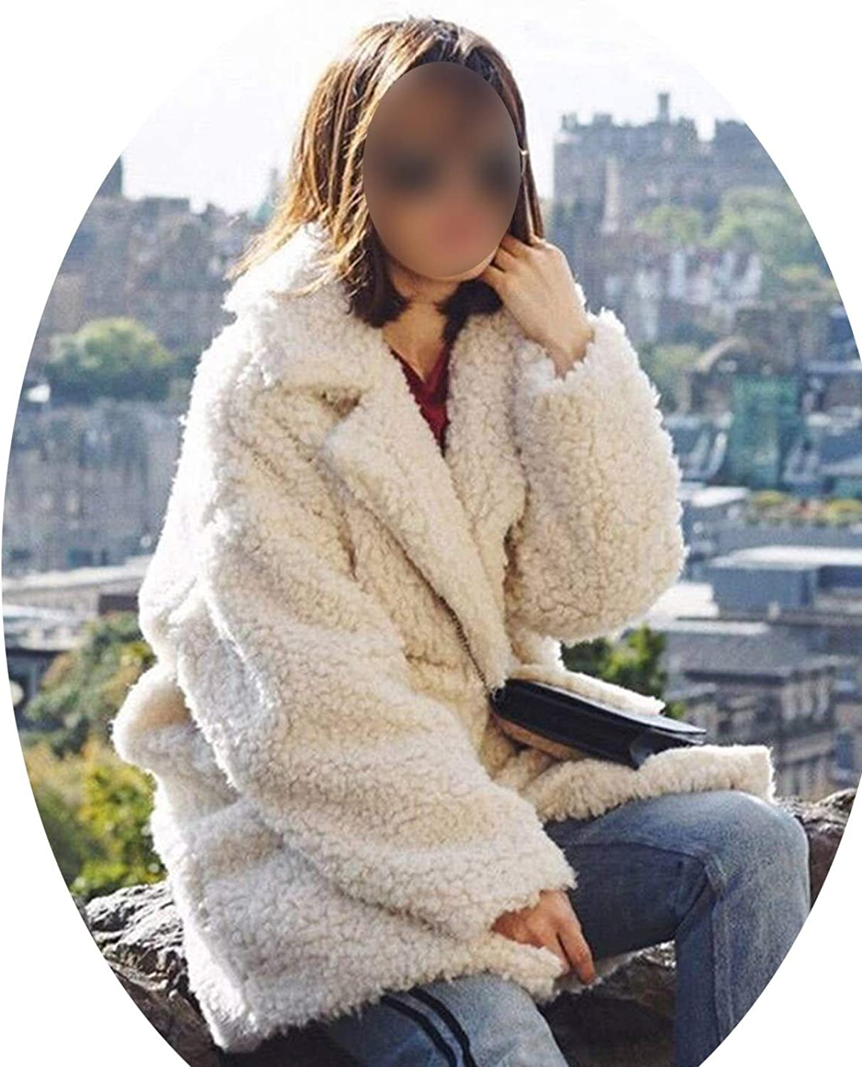 EnjoySexy Solid Oversized Lamb Wool Women 2018 Winter Thick Warm Faux Fur Coats Jackets Ladies High Street