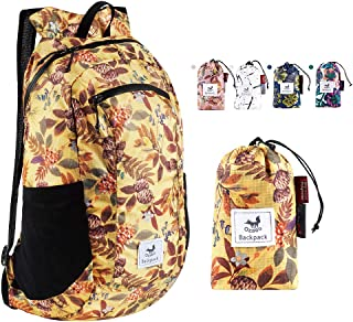 Ozaeo Foldable Hiking Daypack,Water Resistant,Ultralight Packable Backpack for Travel,Camping,Backpacking,Shopping