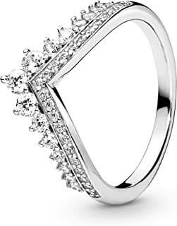 Pandora Jewelry Princess Wish Cubic Zirconia Ring in Sterling Silver, Size 7