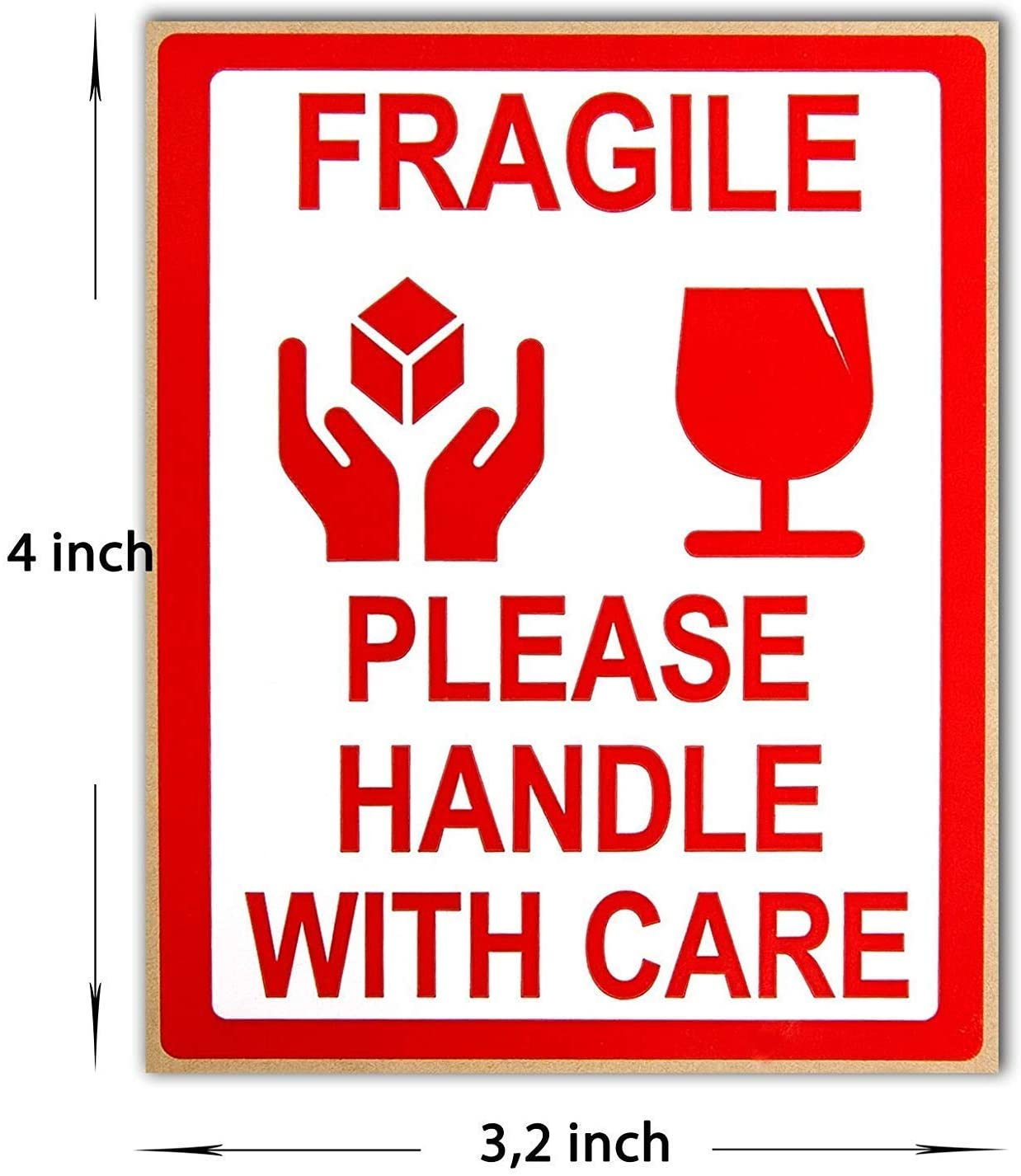 Amazon Com Homelyworld 500 X Fragile Please Handle With Care Shipping Self Adhesive Packaging Stickers Sticky Labels 8x10cm 1 Roll Office Products