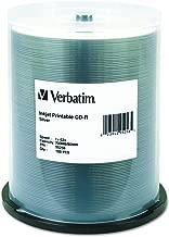 Verbatim CD-R 700MB 52X Silver Inkjet Printable Recordable Media Disc - 100pk Spindle (Renewed)