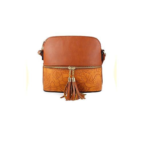 Women s Tassel Charm Floral Print Small Handbag Crossbody Messenger  Shoulder Bag 32a7d99a57467