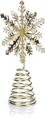 com-four® Flocon de Neige au Sommet de l'arbre de Noël - La cime de l'arbre de Noël pour Le Sapin de Noël - Un Flocon