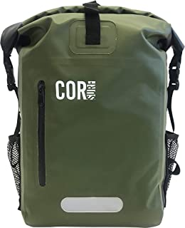 COR Surf Waterproof Backpack With Padded Laptop Sleeve, 25 Liters, Green