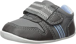 Carter's Every Step Boys' Stage 2 Stand, Jamison-SB Sneaker, Grey,4.0 M US (6-9 Months)