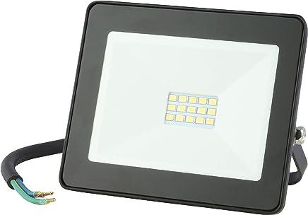Emos LED Flutlicht 10W / 800 Lumen Baustrahler, Scheinwerfer, Außenstrahler, Wandfluter, 4000k neutralweiß, staub- und wasserdicht Schutzklasse IP65, schwarz