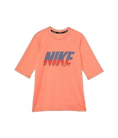 Nike Kids Heather Sunset Logo Short Sleeve Hydroguard (Little Kids/Big Kids)
