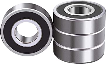 4 Pcs 6203-2RS Double Rubber Seal Bearings 17x40x12mm, Pre-Lubricated and Stable Performance and Cos