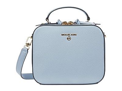 MICHAEL Michael Kors Jet Set Charm Medium Top-Handle Crossbody (Pale Blue) Handbags