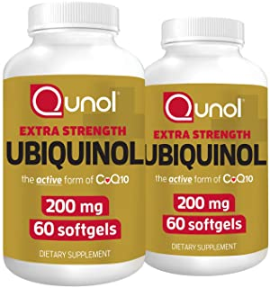 Qunol Ubiquinol 200mg, Powerful Antioxidant for Heart and Vascular Health, Essential for Energy Production, Natural Supple...