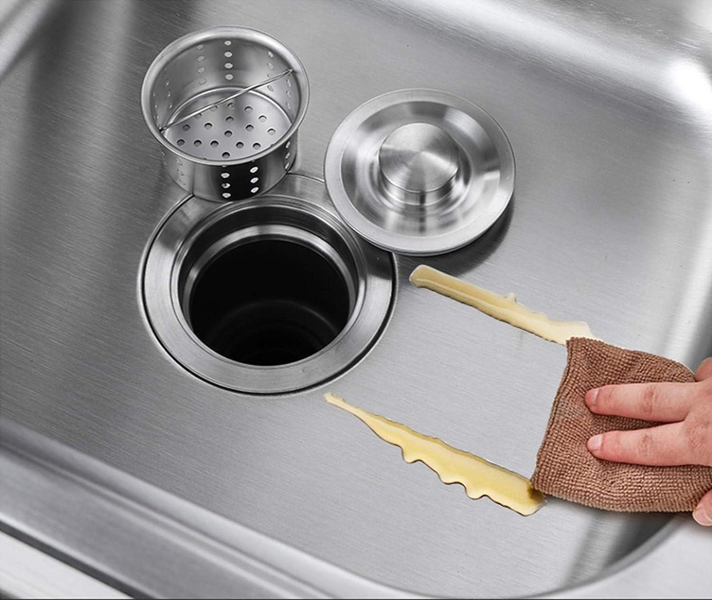 QIUhoodies Lavello da Cucina Mobile lavello a Vasca Singola Professionale per Catering Commerciale con Rubinetto e portaoggetti per Bar Ristorante da Giardino da Esterno-Package a||52/×38cm