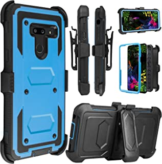 Venoro LG G8 ThinQ Case, LG G8 Case, Heavy Duty Shockproof Full Body Protection Case Cover with Swivel Belt Clip and Kickstand for LG G8/LG G8 ThinQ/LG G820 (Blue)