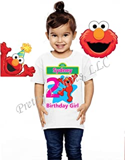 Elmo Birthday Shirt, Birthday Girl Shirt, Sesame Street Birthday Shirt, Girl Elmo Birthday Shirts, Visit Our Shop