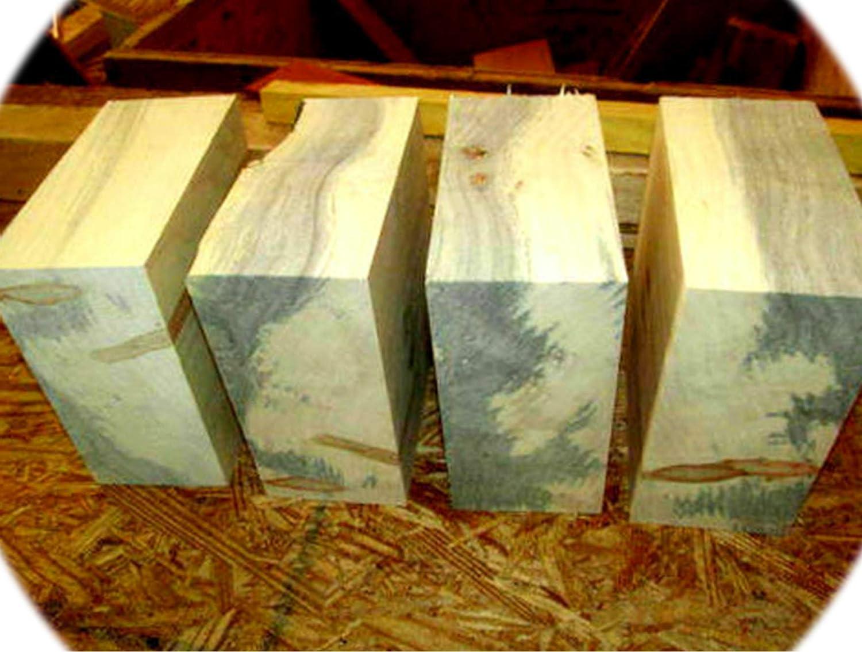 Pack of Four Max 75% OFF Boxelder Bowl Blanks Wood New Shipping Free Blocks Lathe Lumb Turning