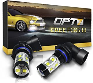 OPT7 H10 (9145 9140 9040) CREE XLamp LED DRL Fog Light Bulbs - 10000K Deep Blue @ 700 Lm per Bulb - All Bulb Sizes and Colors - 1 Year Warranty (Pack of 2)