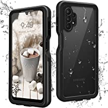YIXXI Samsung A32 5g Case, Samsung Galaxy A32 5G Case with Built in Screen Protector Full Body Protective Waterproof Shockproof Clear Phone Case for Samsung Galaxy A32 5G (Black Cover)