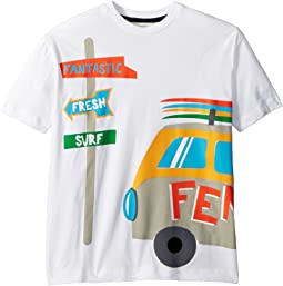Fendi Kids - Short Sleeve Logo Surf Van Graphic T-Shirt (Big Kids)
