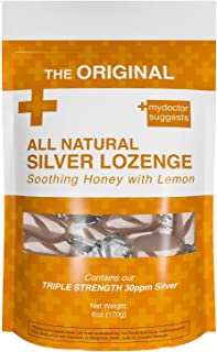 Original All Natural Silver Lozenges - Soothing Honey with Lemon: The Perfect Lozenge for Oral Health, Daily Supplementati...