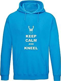 Brand88, Keep Calm And Kneel, Felpa con Cappuccio per Adulti
