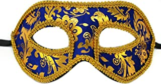 Man's Christmas Halloween Ball Party Plastic Black Blue Half-face Masquerade Mask